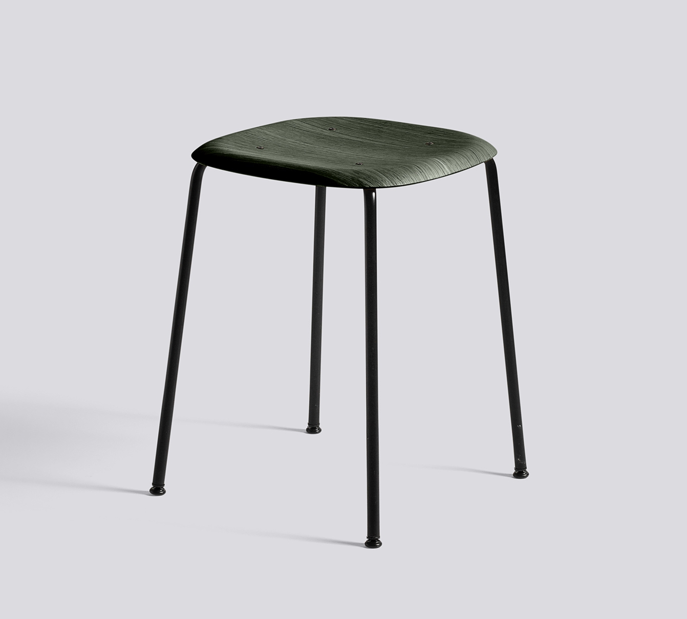 HAY Hocker Soft Edge 70 black hunter green