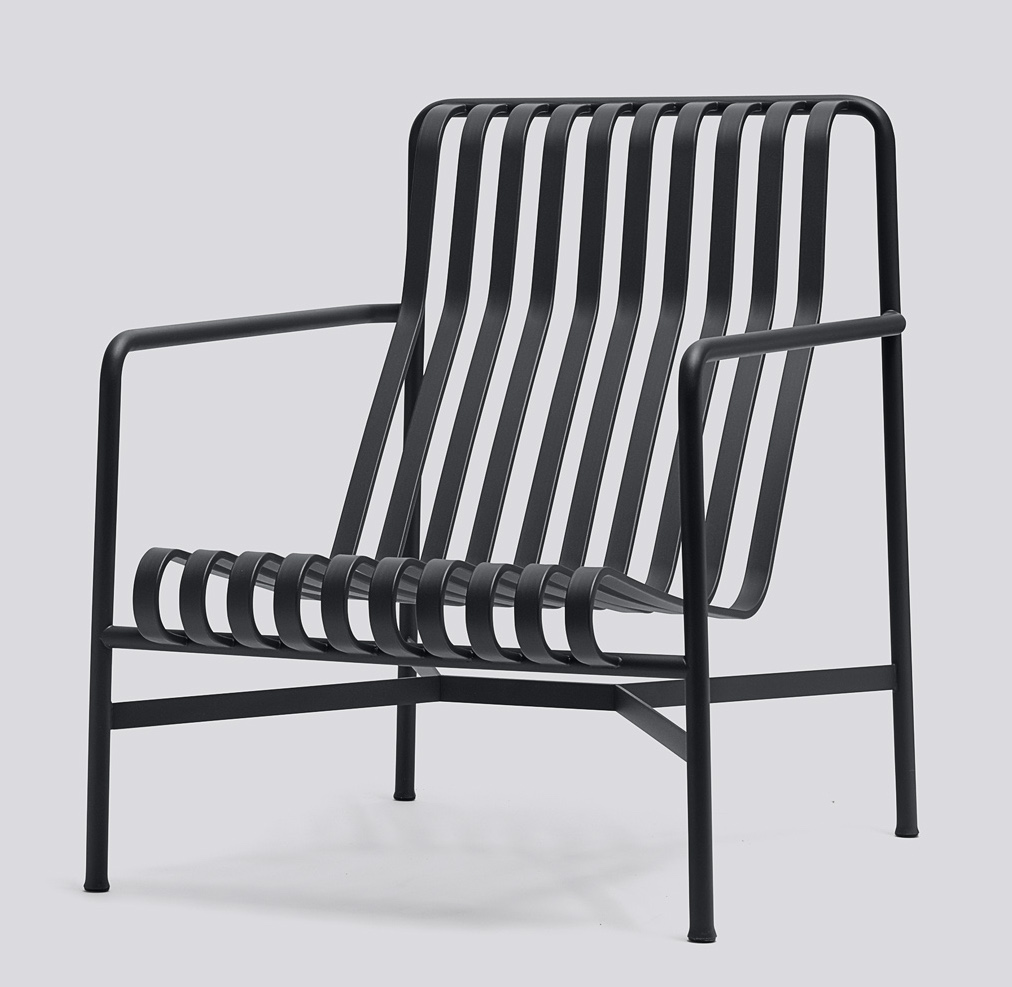 Hay Pallissade Lounge Chair high anthrazit