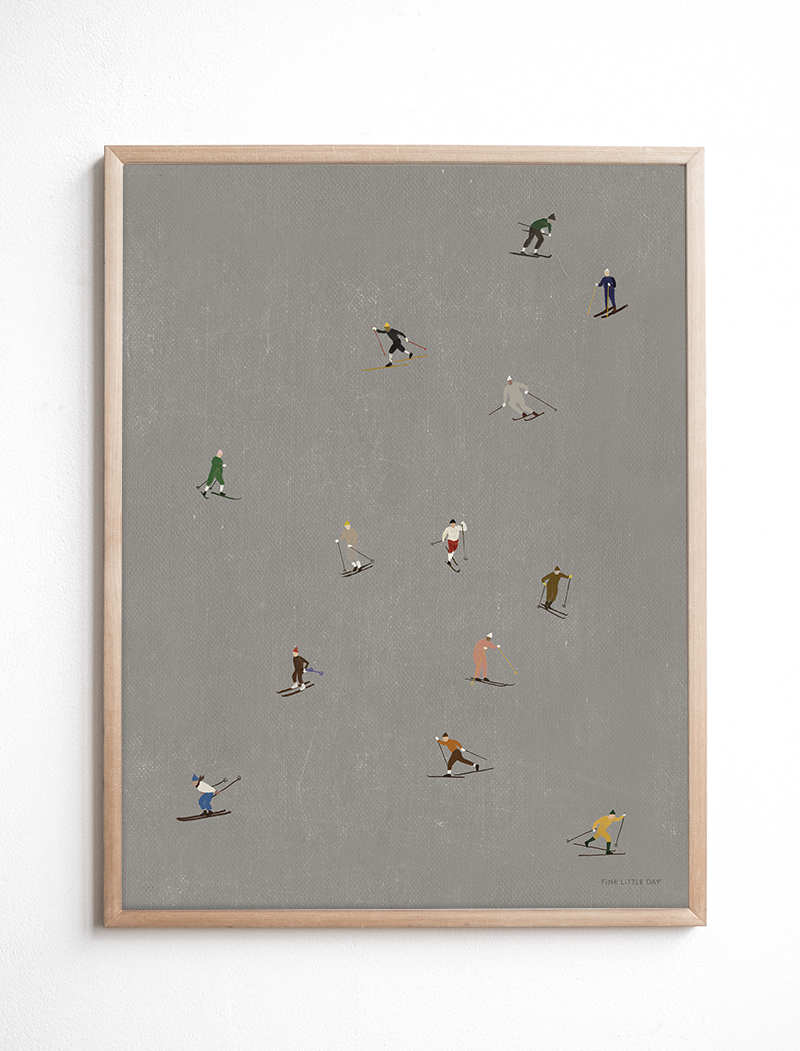 fine little day Poster Skiers large