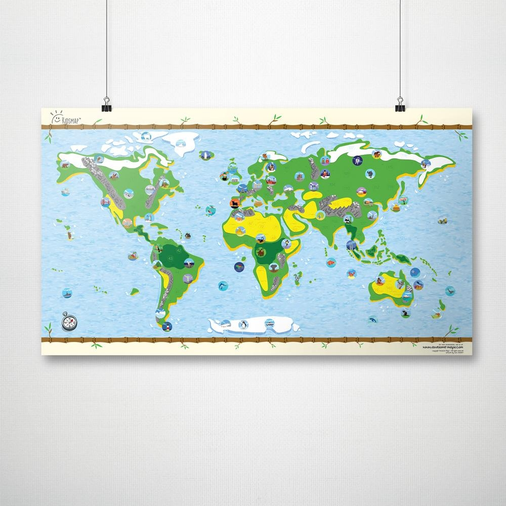 Awesome Maps Interaktive Kinder Weltkarte