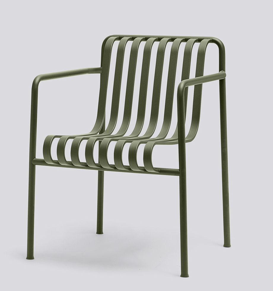 Hay Palissade Dining Arm Chair oliv
