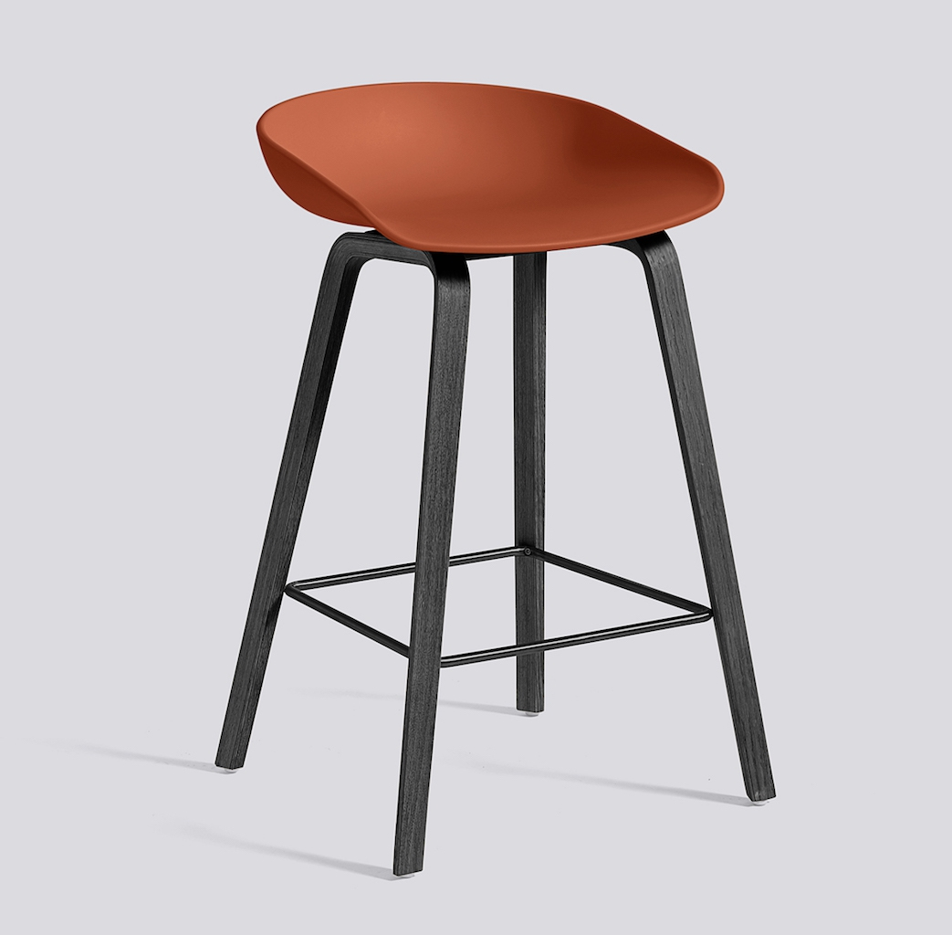 HAY About a Stool 32 schwarz orange
