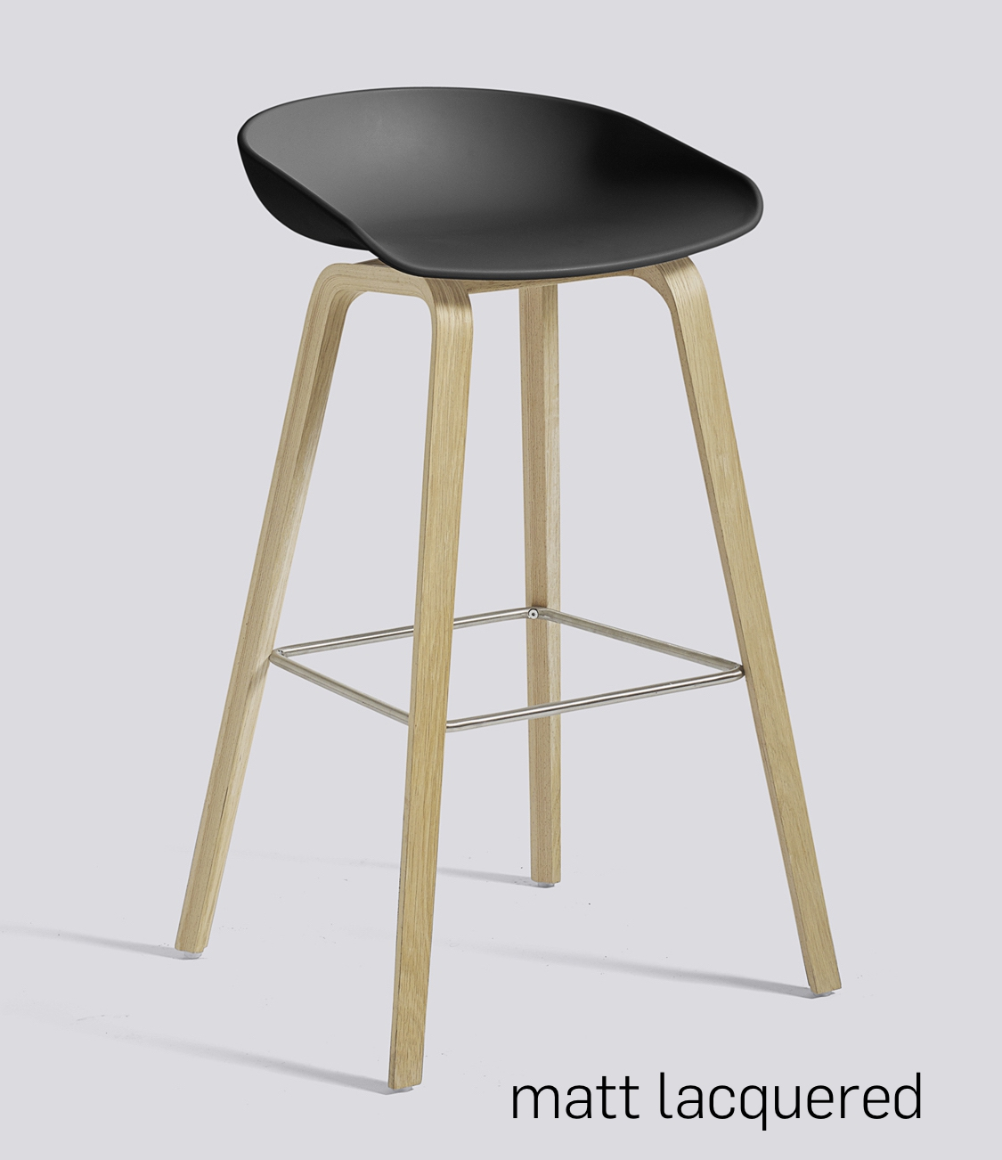 HAY About a Stool 32 Eiche soft black