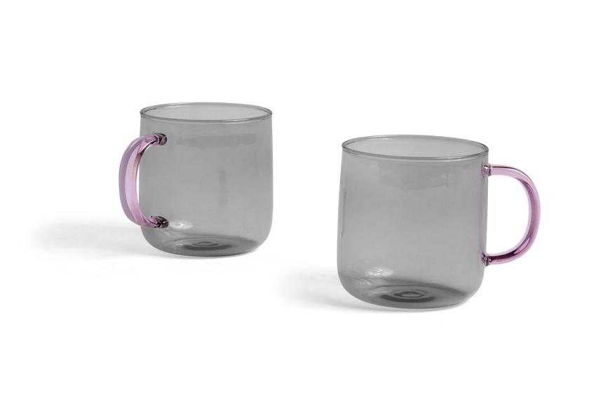 HAY Borosilicate 2Tassen light grey / pink
