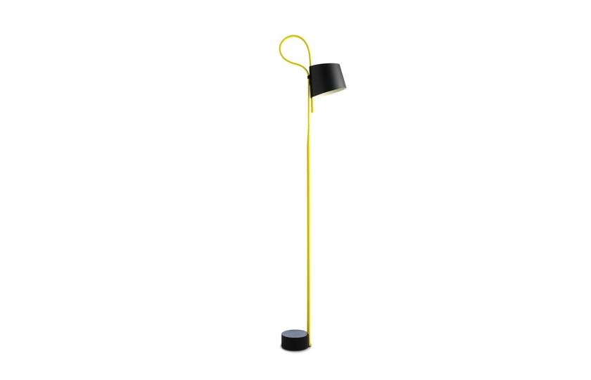 Hay Stehleuchte Rope Trick yellow / black