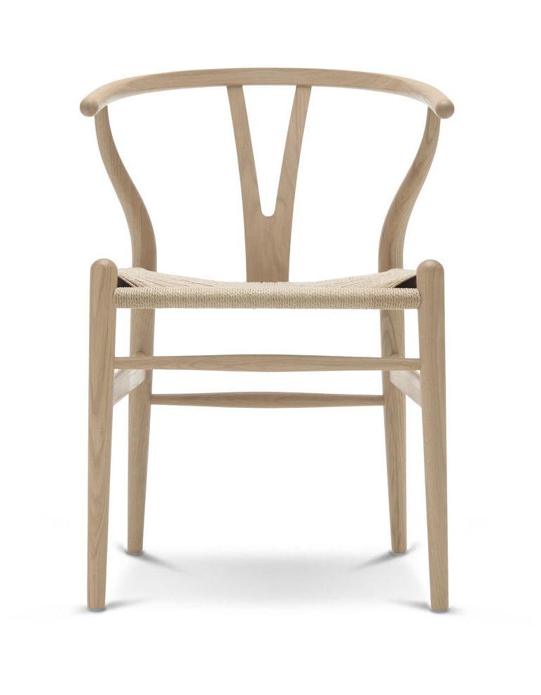 Carl Hansen CH 24 oak white oil  Wishbone Chair