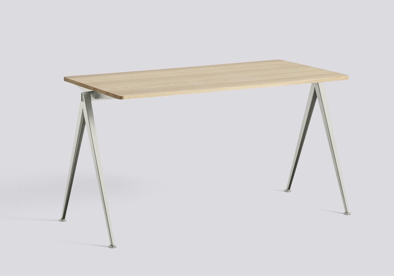 HAY Tisch Pyramid Table 01 beige - oak matt laquered