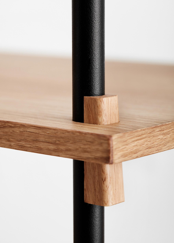 Moebe Shelving System medium double oak