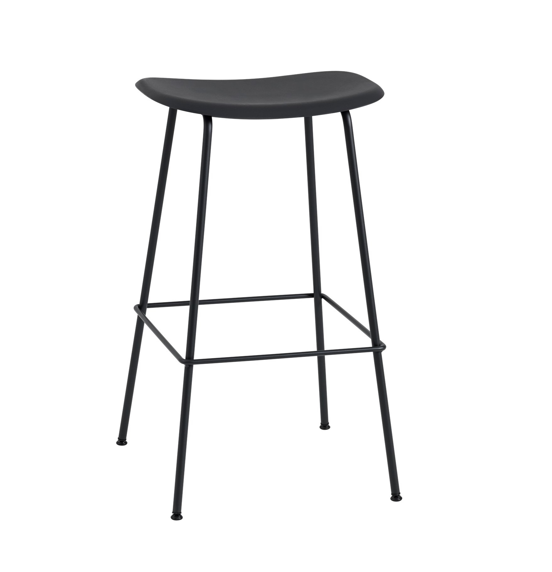 muuto Fiber Bar Stool black