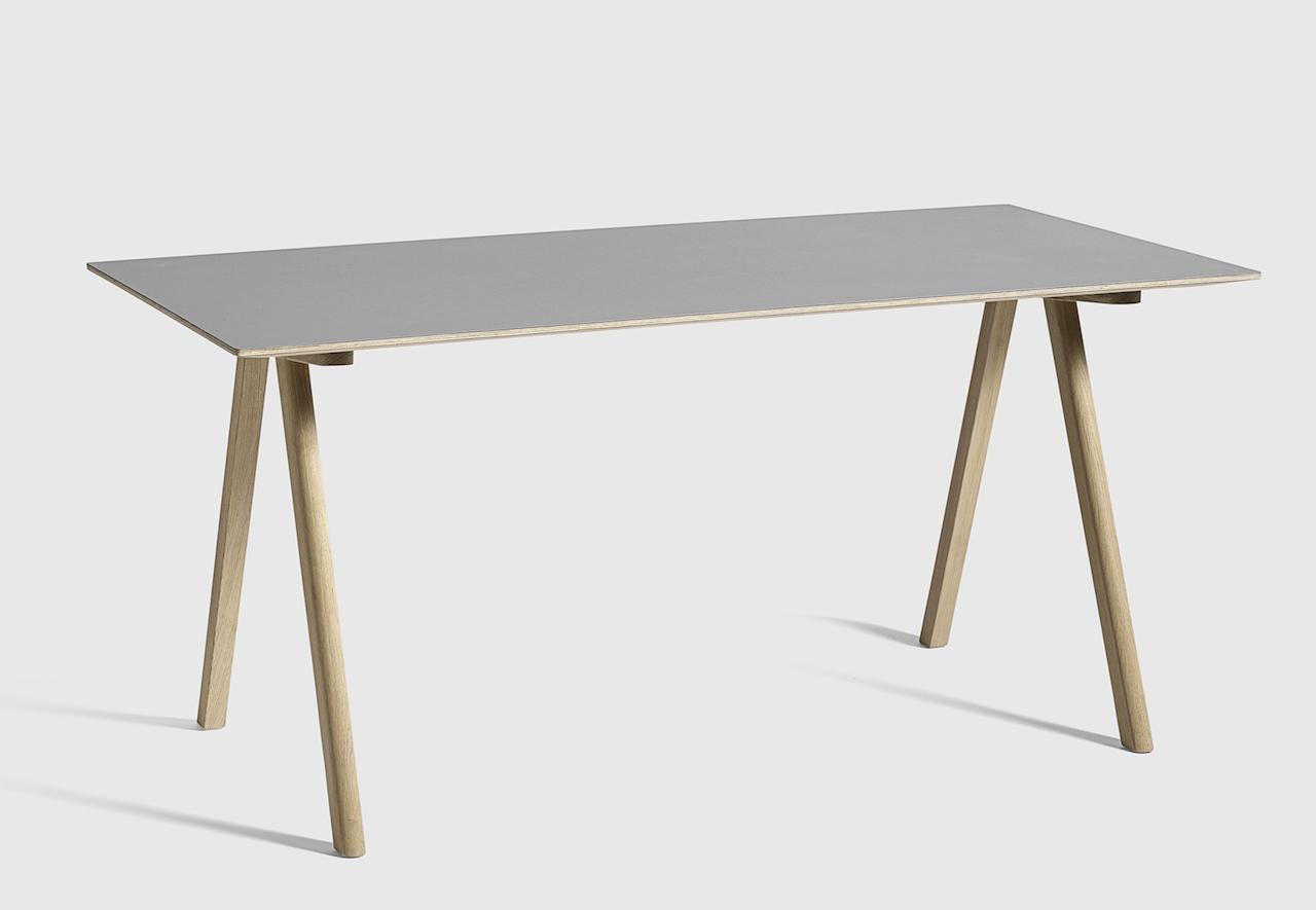 HAY CPH10 Tisch Eiche - Linoleum grau