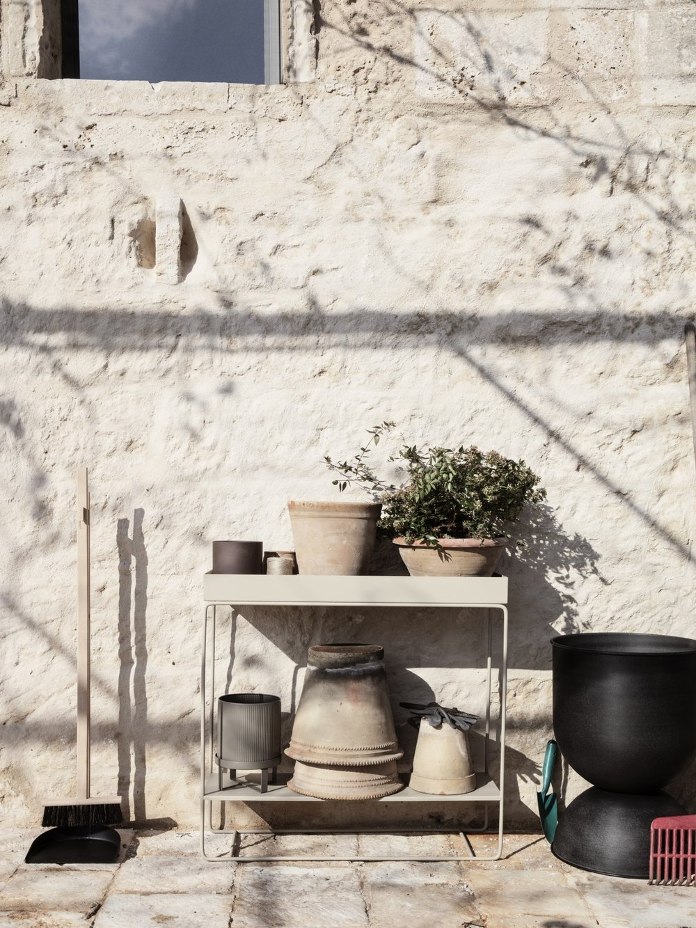 ferm living Plantbox two tier black