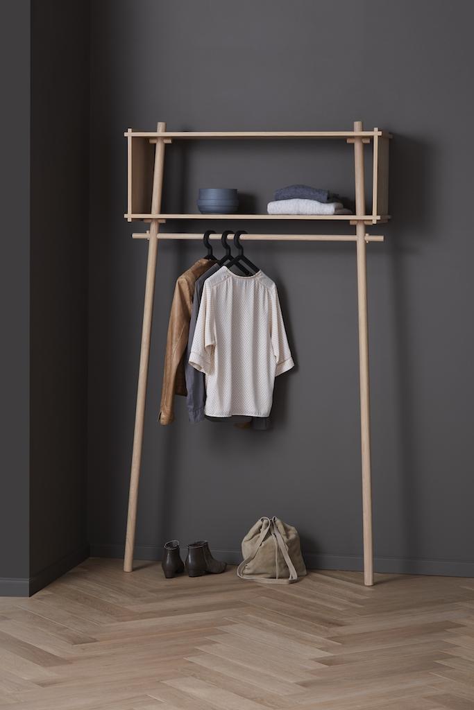 Woud Garderobe Töjbox Eiche