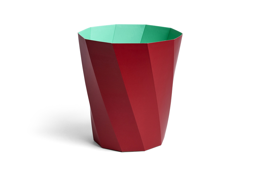 HAY Papierkorb Paper Bin Dark Red