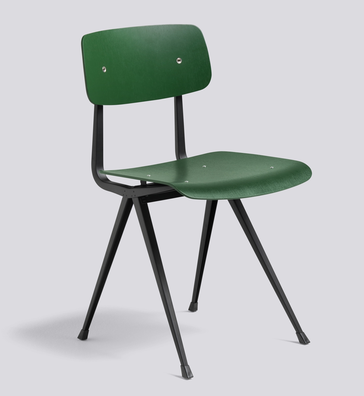 HAY Result Chair black Base / Forest Green