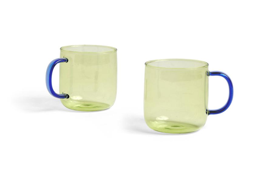 HAY Borosilicate 2Tassen Lime/ blue