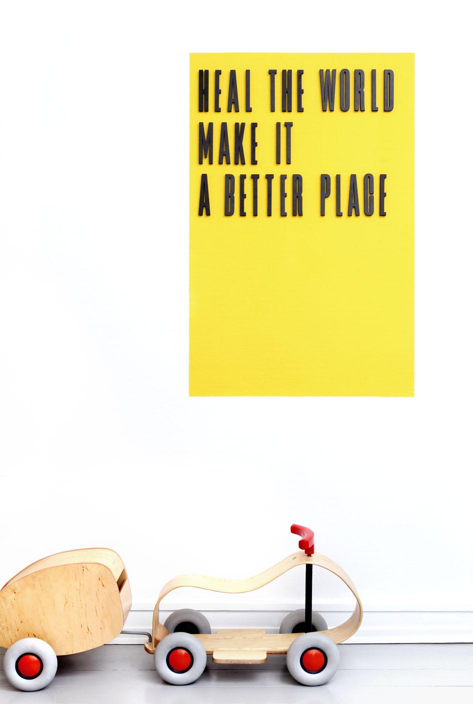 Design Letters Buchstaben schwarz