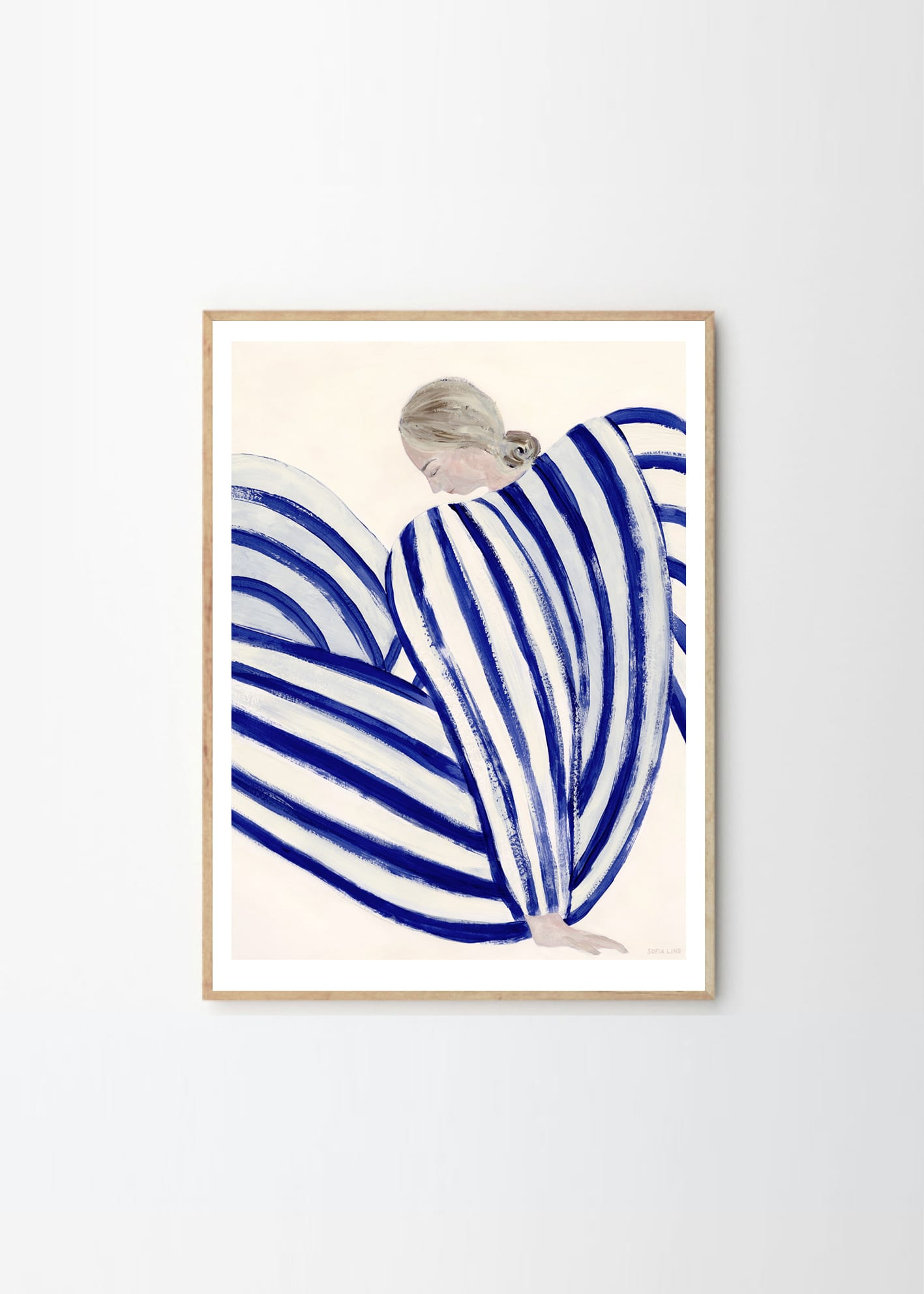 The Poster Club Sofia Lind BLUE STRIPE AT CONCORDE