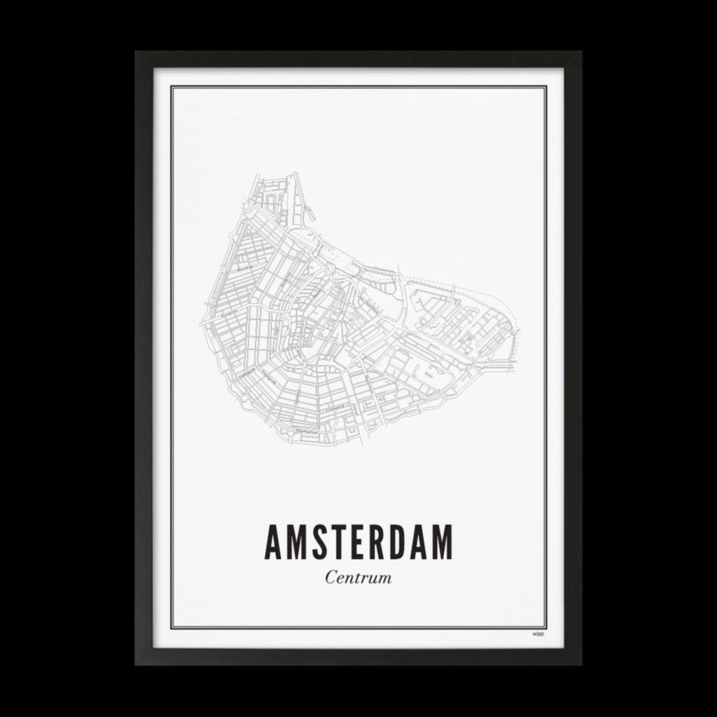 Wijck Poster Amsterdam City 21x30cm