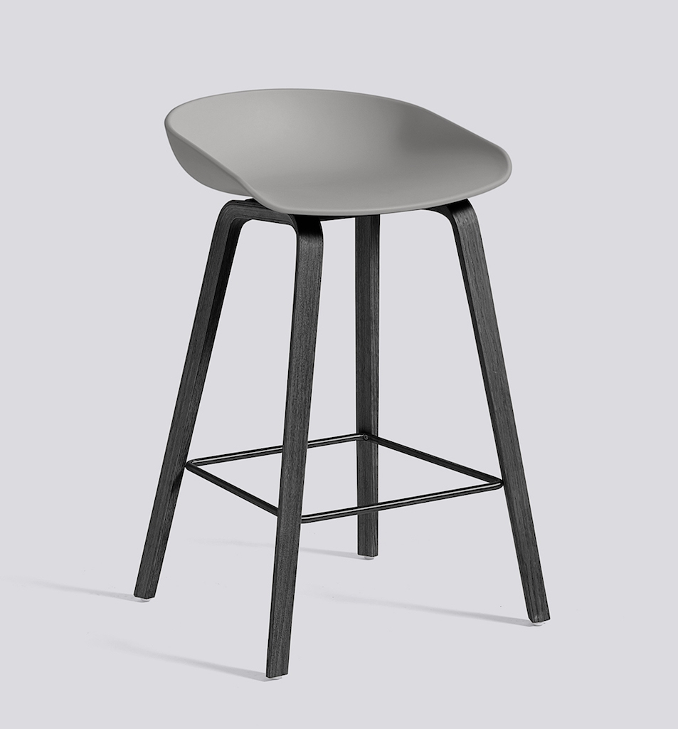 HAY About a Stool 32 schwarz concrete grey