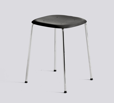 HAY Hocker Soft Edge 70 chrom- black