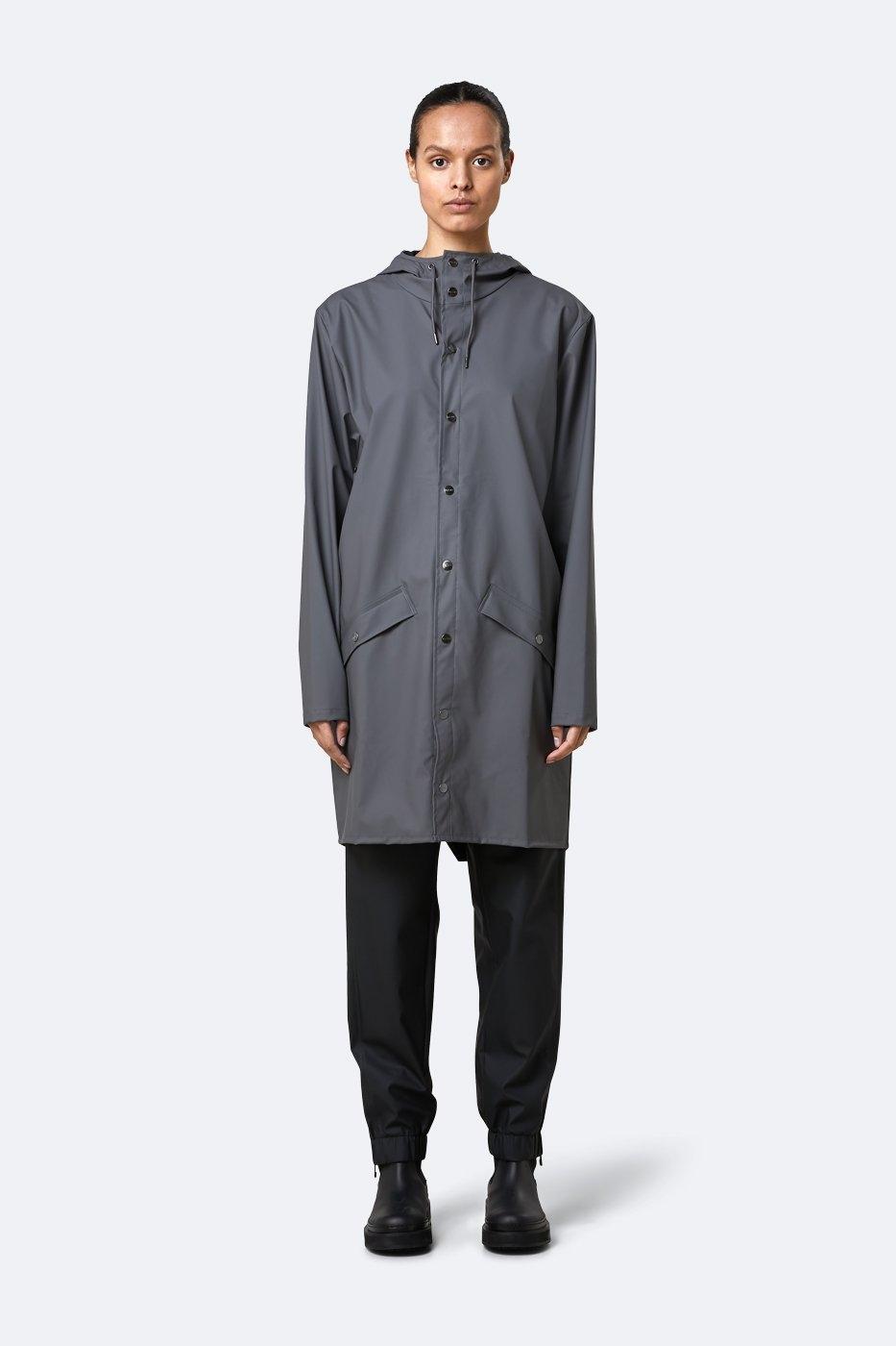 Rains Long Jacket charcoal unisex M/L