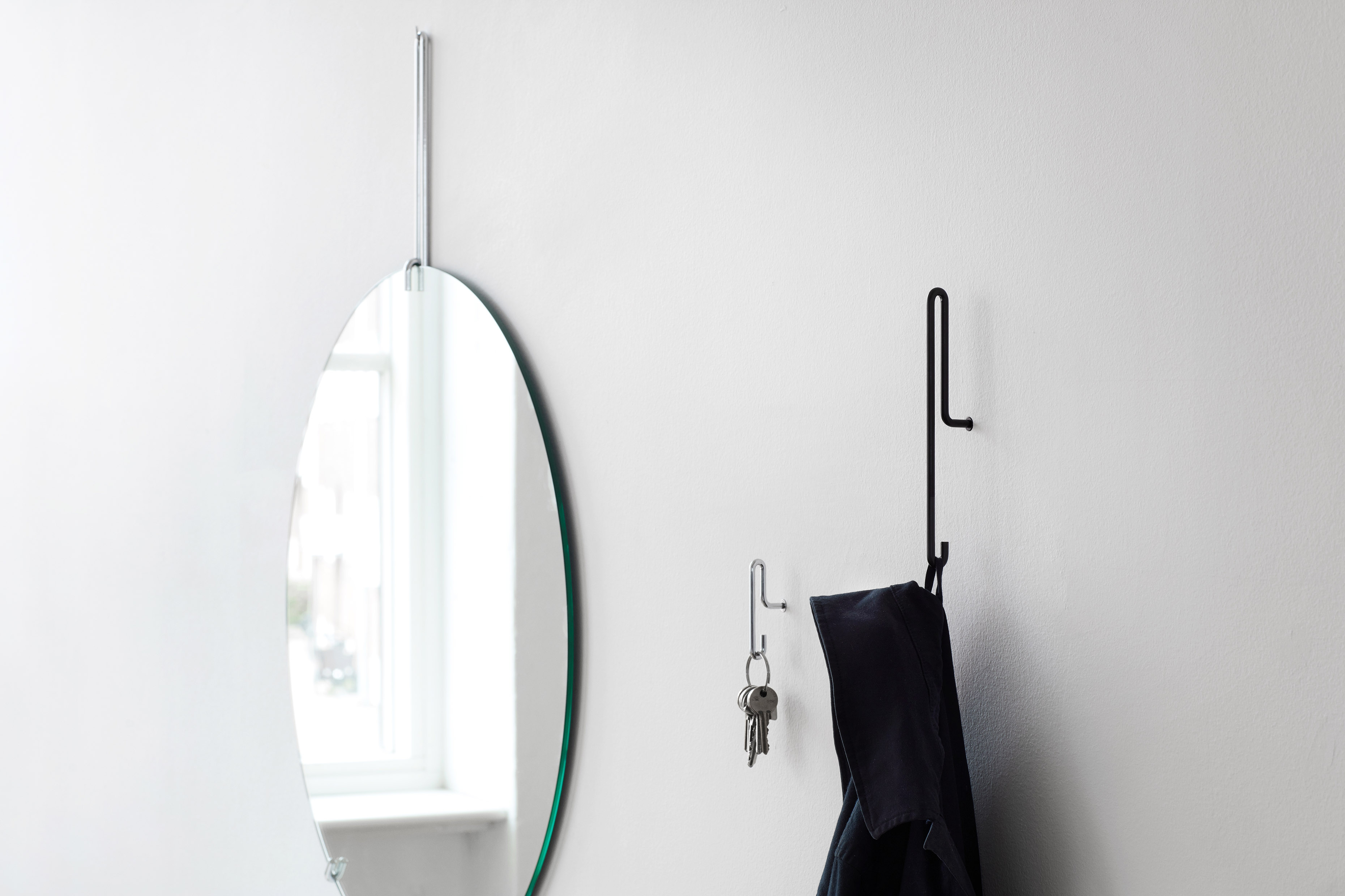 Moebe Wall Hook small chrome ( 2Stück)