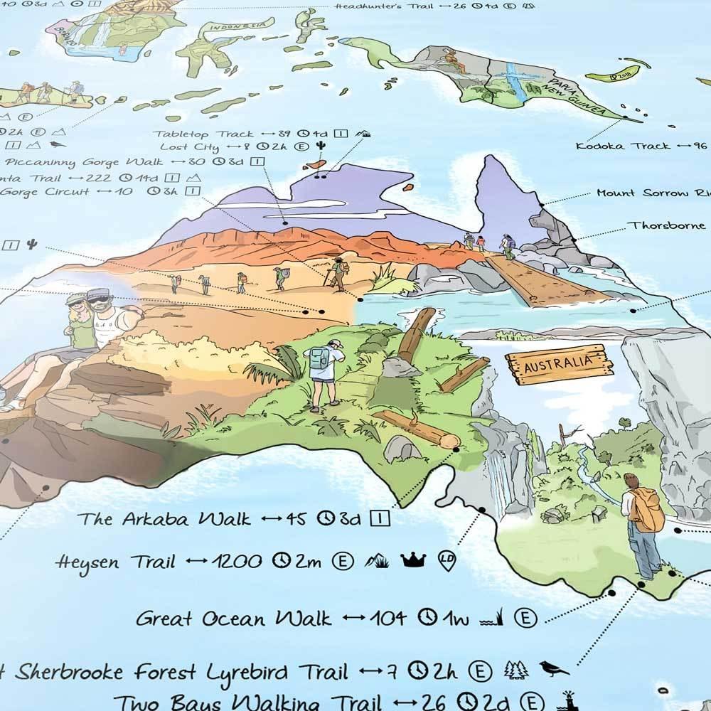 Awesome Maps Wander Weltkarte