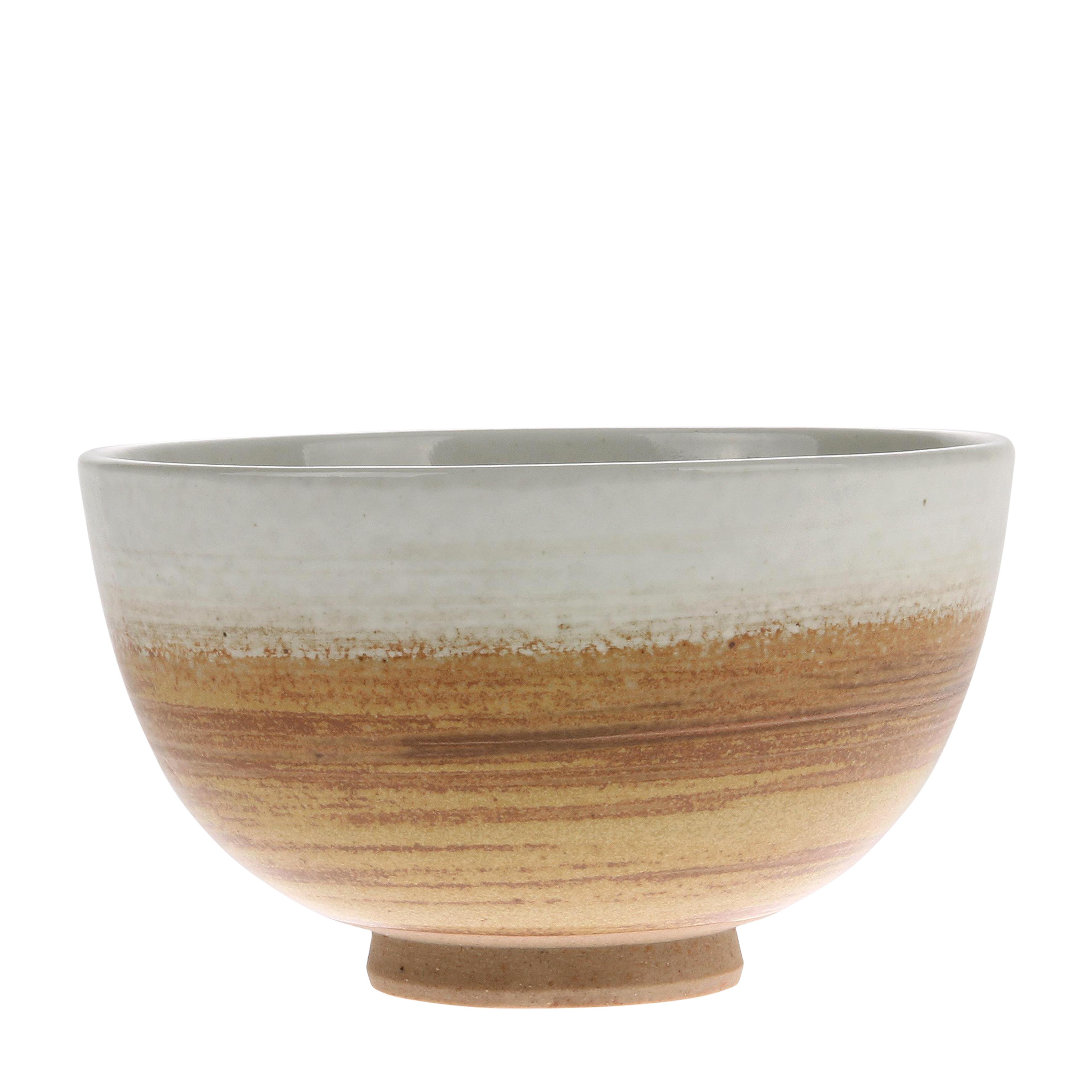HK Living Kyoto Ceramics Schale braun/ weiß