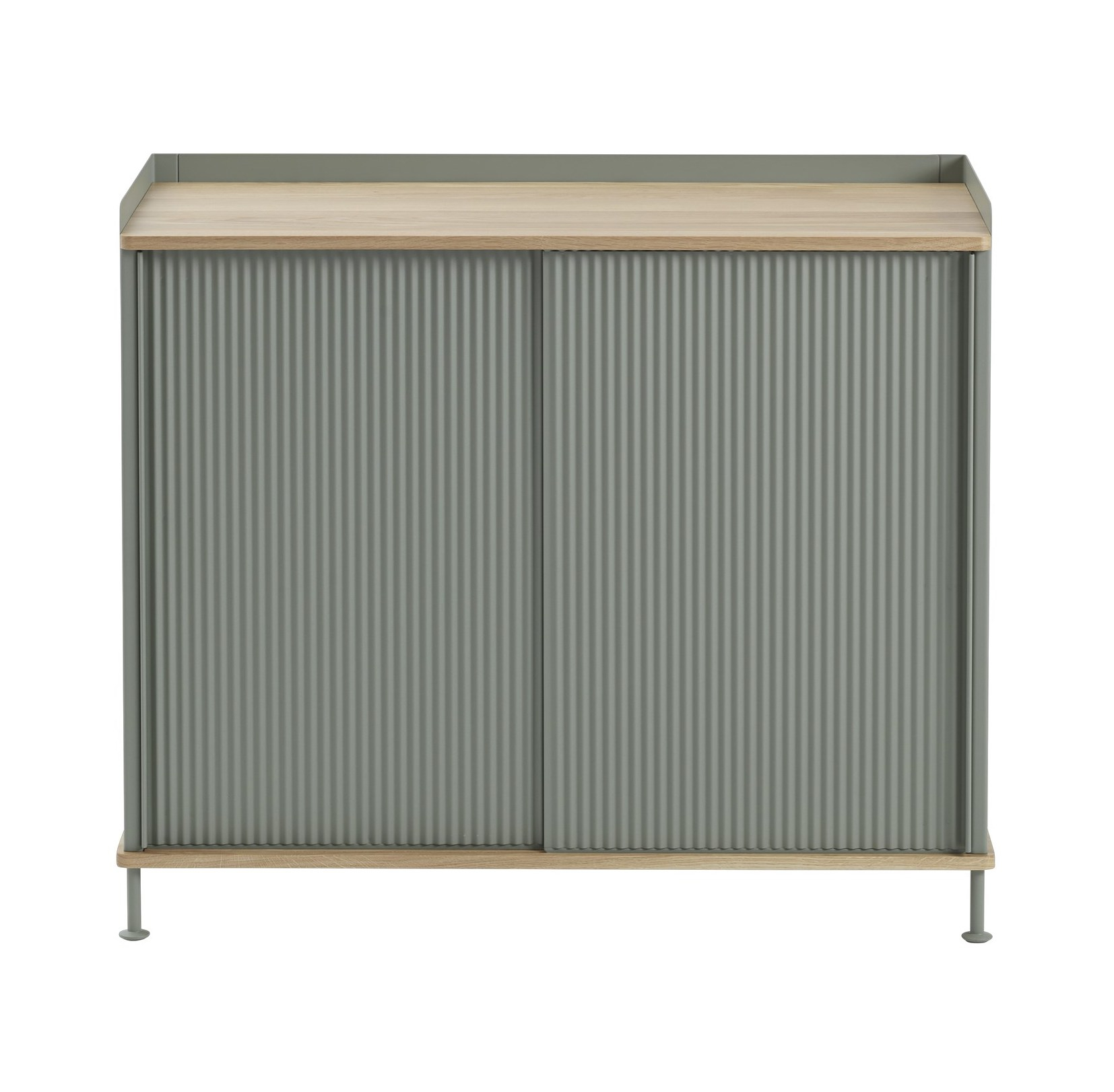 muuto Enfold Sideboard schmal oak/ dusty green