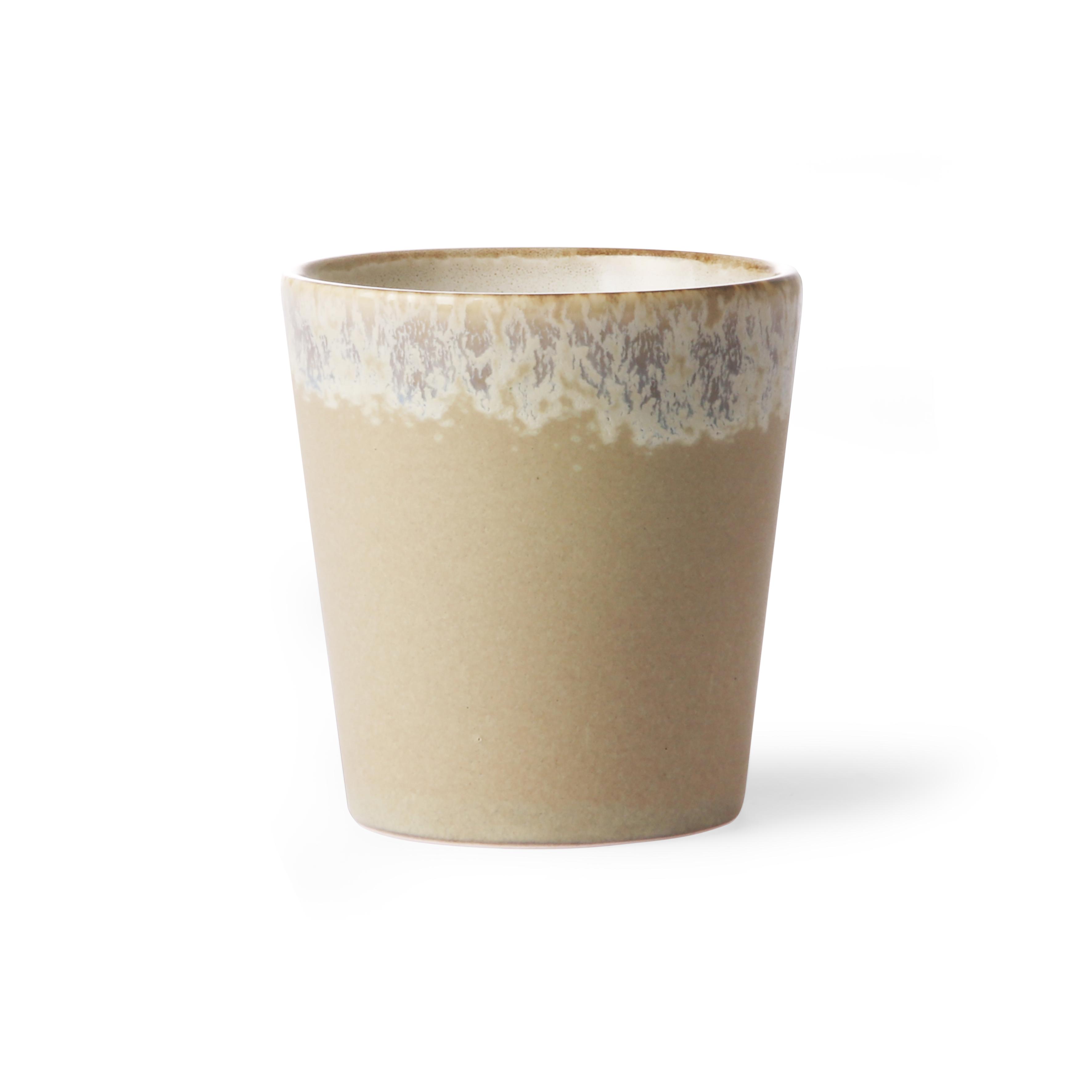 HK Living Ceramic 70's Becher bark