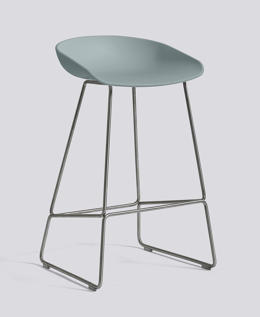 HAY About a Stool 38 Edelstahl dusty blue