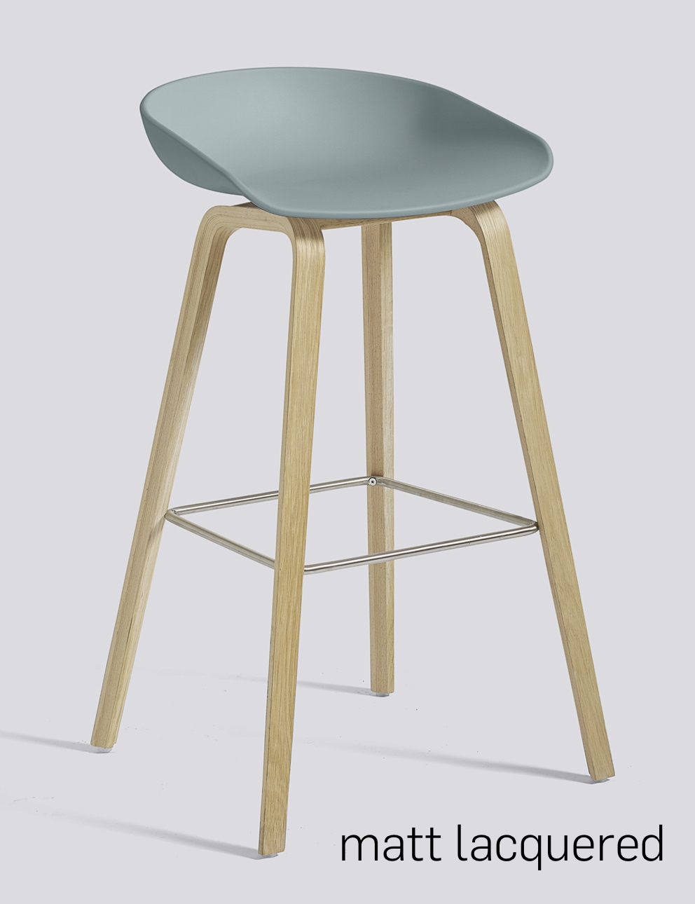 HAY About a Stool 32 Eiche dusty blue