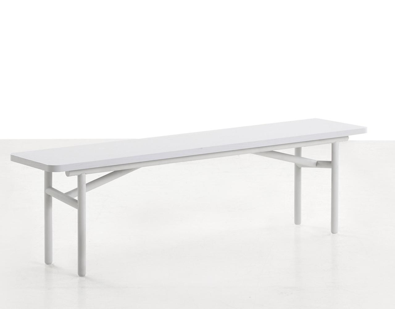 Woud Dieagonal Sitzbank grau