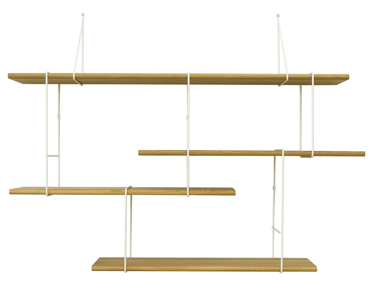Studio Hausen Link Regal Setup1 Eiche | Weiß