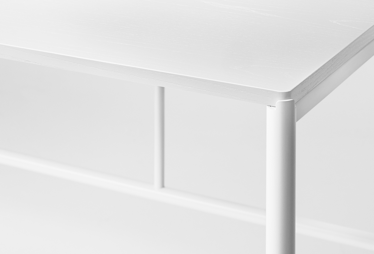 Million Copenhagen MIES Dinig Table white | white stained