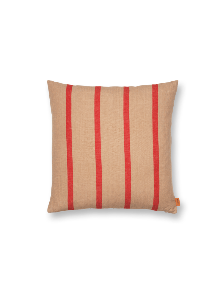 ferm living Grand Cushion Camel/red