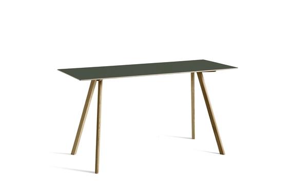 HAY Tisch CPH 30 Linoleum grün / Eiche hoch