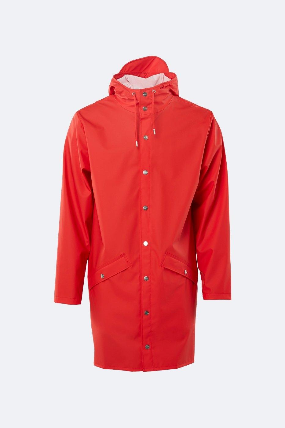 Rains  Long Jacket red unisex XS/S